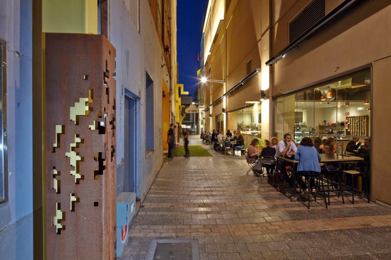 Adelaide architects francis street laneway revitalisation for Urban design adelaide